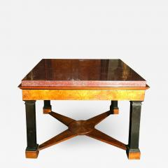 Neoclassical Italian Center Table with Imperial Porphyry Marble Tabletop - 1774968
