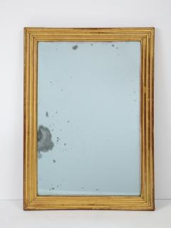 Neoclassical Italian gilded rectangular mirror with ribbed carving - 1013821