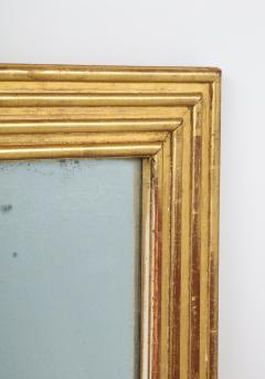 Neoclassical Italian gilded rectangular mirror with ribbed carving - 1013823