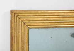 Neoclassical Italian gilded rectangular mirror with ribbed carving - 1013827