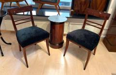 Neoclassical Side Chair Mahogany Ebony Velvet Vienna circa 1820 - 1808529