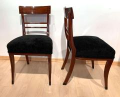 Neoclassical Side Chair Mahogany Ebony Velvet Vienna circa 1820 - 1808535