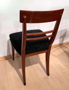 Neoclassical Side Chair Mahogany Ebony Velvet Vienna circa 1820 - 1808537
