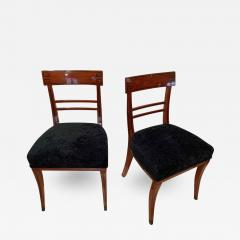 Neoclassical Side Chair Mahogany Ebony Velvet Vienna circa 1820 - 1848345