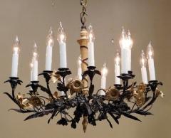 Neoclassical Style Foliate 14 Light Chandelier - 750554