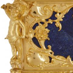 Neoclassical style blue lapis lazuli and gilt bronze jewellery casket - 1577281