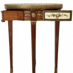 Neoclassical style gilt bronze mounted wooden side table - 1433201