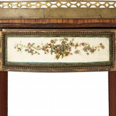 Neoclassical style gilt bronze mounted wooden side table - 1433203