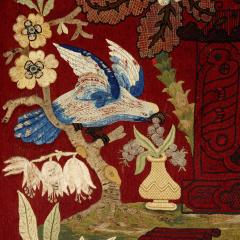 Neoclassical style giltwood firescreen with embroidery - 1443613