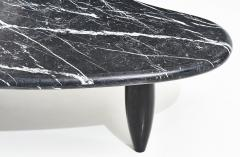 Nero Marquina Biomorphic Marble Coffee Table - 2130801