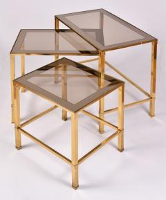 Nest of 1960s Italian brass side tables - 995883