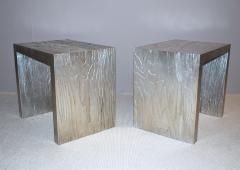 Neuland I Silver Leafed Side Tables - 148120