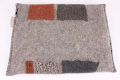 New Contemporary Hand Felted Wool Bench with 2 Cushions - 1598756