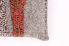 New Contemporary Hand Felted Wool Bench with 2 Cushions - 1598757