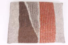 New Contemporary Hand Felted Wool Bench with 2 Cushions - 1598758