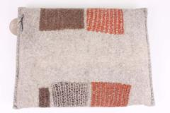 New Contemporary Hand Felted Wool Bench with 2 Cushions - 1598759