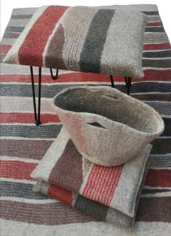 New Contemporary Hand Felted Wool Stool - 1608620