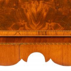 New England Hepplewhite step back tambour flip top secretary desk - 1939777