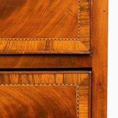 New England Hepplewhite step back tambour flip top secretary desk - 1939778