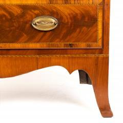 New England Hepplewhite step back tambour flip top secretary desk - 1939779