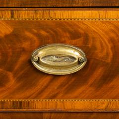 New England Hepplewhite step back tambour flip top secretary desk - 1939845