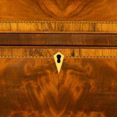 New England Hepplewhite step back tambour flip top secretary desk - 1939846