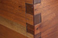 New Hope Style Carved Walnut Swivel Storage Cubby on Base - 732360