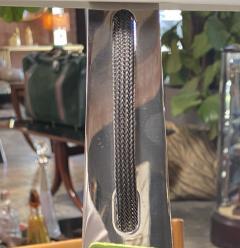 New Italian Midcentury Chrome And Murano Glass Desk Lamp 2000s - 1572528