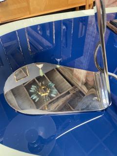 New Italian Midcentury Chrome And Murano Glass Desk Lamp 2000s - 1572529