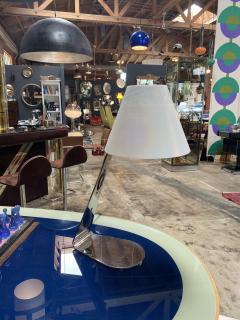 New Italian Midcentury Chrome And Murano Glass Desk Lamp 2000s - 1572532