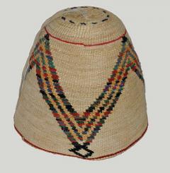 Nez Perces cornhusk and wool hat - 1319128