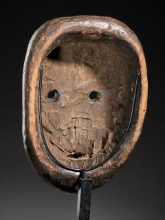 Ngbaka People DRC Ngbaka Face Mask with dotted Polychrome  - 2000358