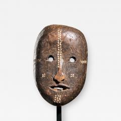 Ngbaka People DRC Ngbaka Face Mask with dotted Polychrome  - 2002623
