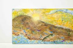 Nick Stavrides Amagansett Sunset by Nick Stavrides Oil on Canvas - 1175085