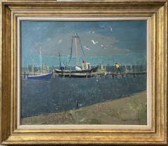 Nicolai Cikovsky Boats at Dock Montauk - 1934610