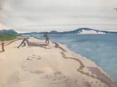 Nicolai Cikovsky Figures by Peconic Bay  - 1218265