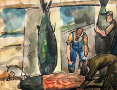 Nicolai Cikovsky Fish Mongers  - 812379
