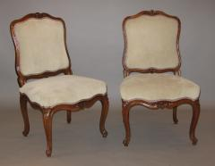 Nicolas Longe Pair of Walnut Side Chairs chaises la Reine  - 272307