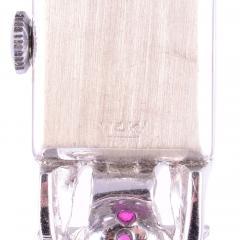 Nicolet Syn Ruby Diamond Ladies White Gold Wrist Watch - 2080866