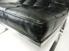 Nicos Zographos Nicos Zographos Black Leather Lounge Chair - 394063