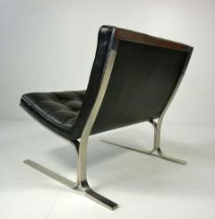 Nicos Zographos Nicos Zographos Black Leather Lounge Chair - 394064