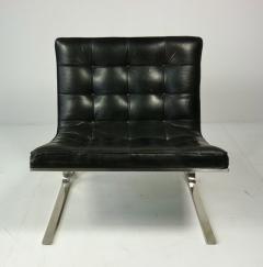 Nicos Zographos Nicos Zographos Black Leather Lounge Chair - 394065
