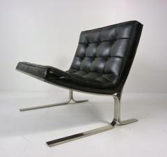 Nicos Zographos Nicos Zographos Black Leather Lounge Chair - 394066