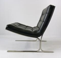 Nicos Zographos Nicos Zographos Black Leather Lounge Chair - 394067