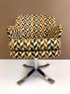 Nicos Zographos Set of Six Nicos Zographos Swivel Chairs - 656827