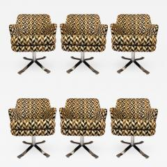Nicos Zographos Set of Six Nicos Zographos Swivel Chairs - 656966