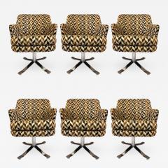 Nicos Zographos Set of Six Nicos Zographos Swivel Chairs - 656966