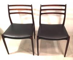 Niels M ller NIELS O MOLLER Pair of chairs in rosewood and leather circa 1954 Denmark - 883001