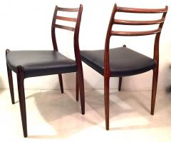 Niels M ller NIELS O MOLLER Pair of chairs in rosewood and leather circa 1954 Denmark - 883002