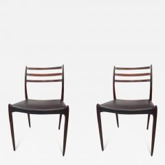 Niels M ller NIELS O MOLLER Pair of chairs in rosewood and leather circa 1954 Denmark - 883568